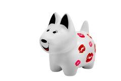 Estatuilla de cerámica del perro Imagenes de archivo
