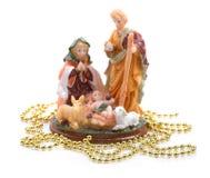 Estatuilla de la Navidad de Jesús. Fotografía de archivo