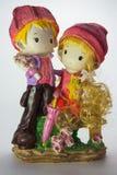 Estatuilla de la porcelana el muchacho con la muchacha Imagen de archivo
