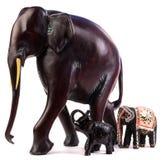 Estatuilla de madera del elefante Imagen de archivo libre de regalías