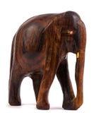 Estatuilla de madera del elefante Imagenes de archivo