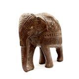 Estatuilla de madera india del elefante Imagen de archivo libre de regalías