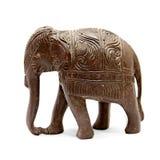 Estatuilla de madera india del elefante Foto de archivo libre de regalías