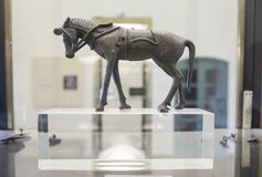 Estatuilla del caballo del Santuario-palacio de Tartessian de Cancho Roano Fotografía de archivo libre de regalías