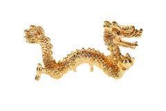 Estatuilla del dragón del oro Imagen de archivo
