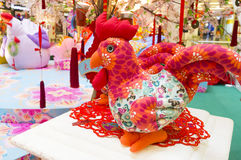 Estatuilla del gallo de la imagen del Año Nuevo Imagen de archivo