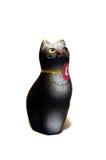 Estatuilla del gato negro de la arcilla Imágenes de archivo libres de regalías