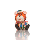 Estatuilla del juguete del tigre Fotos de archivo libres de regalías