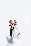 Estatuilla del pastel de bodas Imagenes de archivo