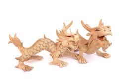 Estatuilla oriental del dragón Foto de archivo