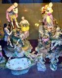 Estatuillas Budapest de la porcelana del renacimiento Fotografía de archivo libre de regalías