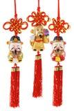 Estatuillas chinas de la prosperidad imagenes de archivo