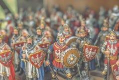 Estatuillas de caballeros Imagen de archivo
