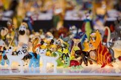 Estatuillas de cristal coloreadas Imagen de archivo libre de regalías
