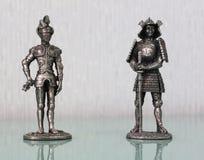 Estatuillas de dos soldados Fotos de archivo