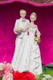 Estatuillas de la novia y del novio Imágenes de archivo libres de regalías
