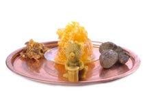 Estatuillas de la vela de la cera de abejas Imagenes de archivo