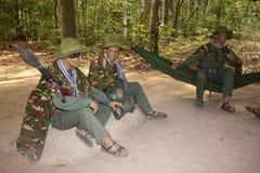 Estatuillas de los guerreros de Viet Cong Imagen de archivo libre de regalías