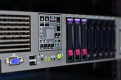 Estatus del LED del LAN Imágenes de archivo libres de regalías