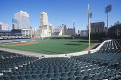 Estádio de basebol vazio Fotografia de Stock
