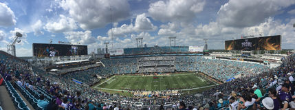 Estádio de EverBank do tempo do jogo, Jacksonville, FL Fotografia de Stock