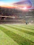 Estádio de Footbal Fotos de Stock Royalty Free