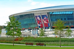 Estádio de futebol de Donbass-Arena.New para Euro-2012. Foto de Stock Royalty Free
