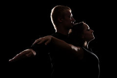 Estúdio disparado de pares novos no amor Fotos de Stock Royalty Free