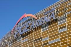 Estádio novo do euro 2012 em Gdansk, Poland Imagem de Stock