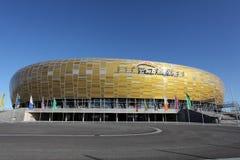 Estádio novo do euro 2012 em Gdansk, Poland Imagens de Stock Royalty Free