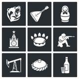 Este é ícones do vetor de Rússia ajustados Foto de Stock Royalty Free
