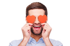 Este é amor! Fotografia de Stock