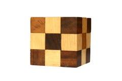 O cúbico de madeira Foto de Stock Royalty Free