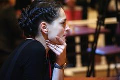 Este é um campeão da xadrez do mundo das mulheres imagens de stock