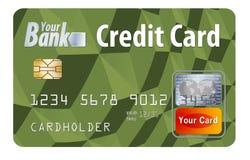 Este é um cartão de crédito bancário É uma ilustração com logotipos e tipo genéricos ilustração do vetor