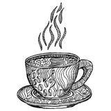 Este é um copo quente da cópia ilustração stock
