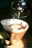 Gotejamento do café Foto de Stock Royalty Free