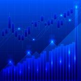 Este é um gráfico que troca divisas estrageiras Foto de Stock Royalty Free