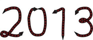 2013 o ano da serpente ilustração stock