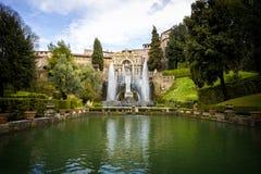 ` Este виллы d в Tivoli, Риме Италия Стоковые Фотографии RF