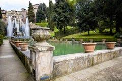 ` Este виллы d в Tivoli, Риме Италия Стоковая Фотография