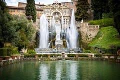 ` Este виллы d в Tivoli, Риме Италия Стоковые Изображения