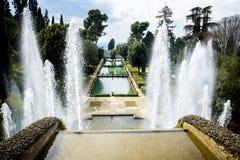` Este виллы d в Tivoli, Риме Италия Стоковое фото RF
