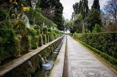 ` Este виллы d в Tivoli, Риме Италия стоковое изображение