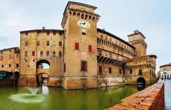 Este castle in center of Ferrara, northern Italy Royalty Free Stock Photos