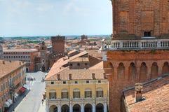The Este Castle. Ferrara. Emilia-Romagna. Italy. Stock Photography