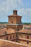 The Este Castle. Ferrara. Emilia-Romagna. Italy. Stock Photo