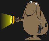 Perro de la protección stock de ilustración