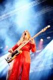 Este Haim, bass player of Haim band, performance at Heineken Primavera Sound 2014 Festival (PS14) Royalty Free Stock Images