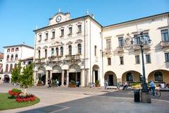 Este Italy Palazzo del Municipio. Este, Italy, 22 Apr 2017 - the white facade of the town hall building in the main square of Este village, province of Padua Royalty Free Stock Photos